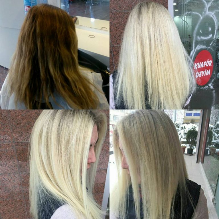 Platin Sarı Saç Modeli
