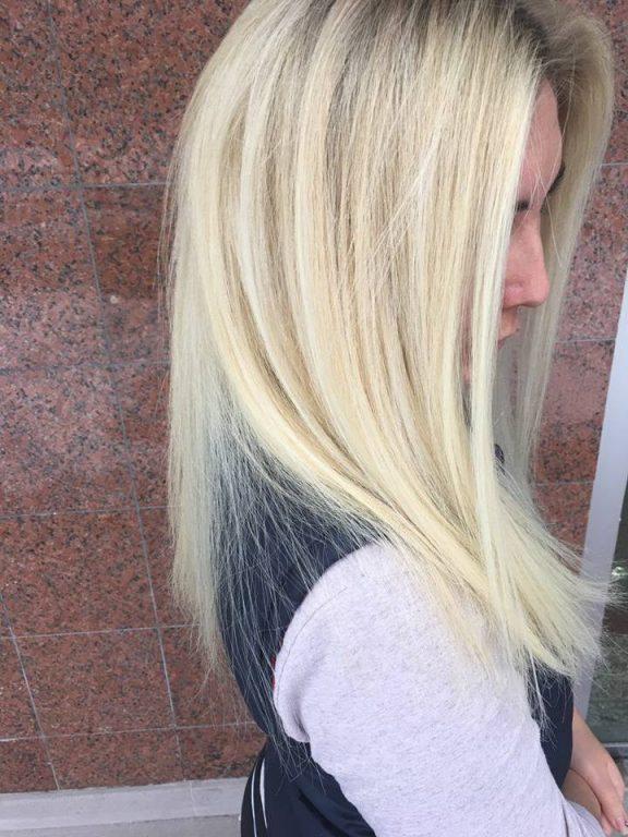 Platin sarı saç