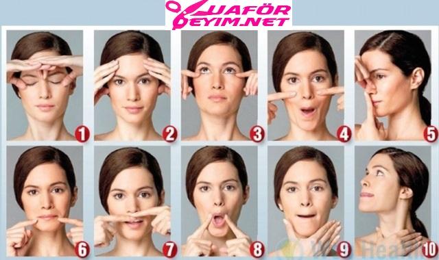 Yüz Yogası ile Gençleşin - Yüz Yogası Hareketleri Resimli