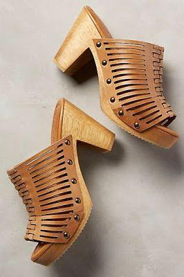 Tahta topuklu modeller