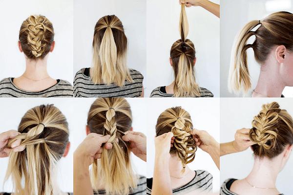Kolay Yapılışları ile Şık Örgü Saç Modelleri - Resimli Anlatım