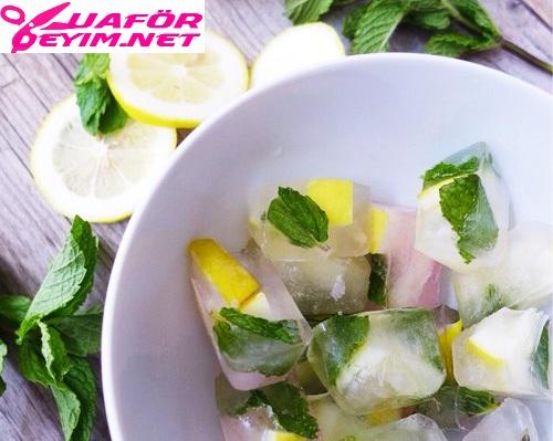 Limon ve Maden Suyu Buzlu Tonik Olarak Nasıl Kullanılır? Cilt Bakımı