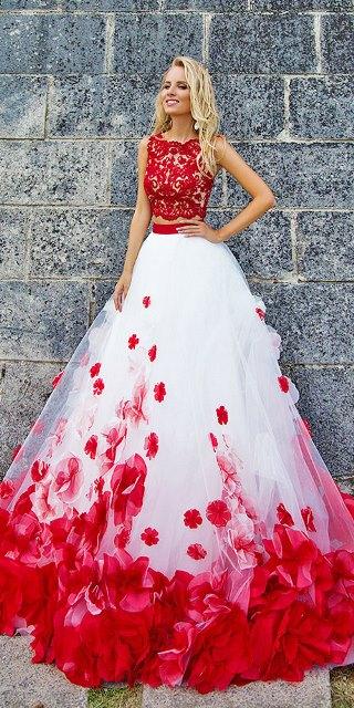 Renkli-düğün-elbiseleri - Oksana Mukha