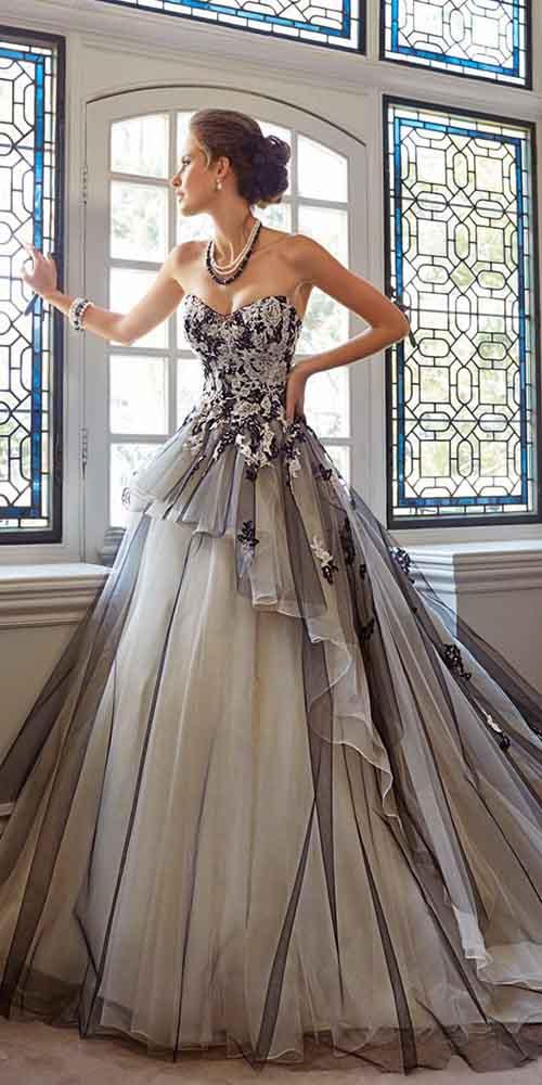 Renkli-düğün-elbiseleri-Sophia Tolli- Sonbahar
