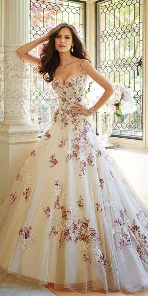 Renkli-düğün-elbiseleri-Sophia Tolli