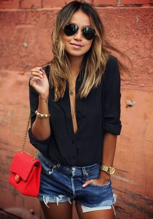 Siyah Gömlek Kombinleri