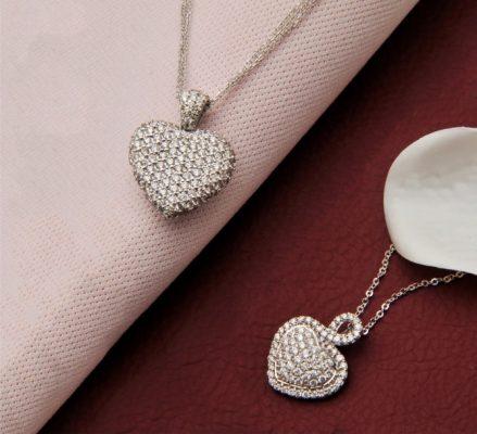 Pırlanta kalp kolye