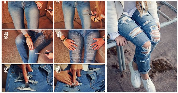 Yırtık Pantolon ve Paçaları Püsküllü Pantolon Nasıl Yapılır?
