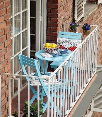Küçük Balkonlar İçin Büyük Ve Yaratıcı Fikirler