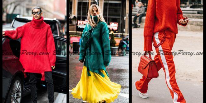2019 Kışının Renkli Kazak Modası